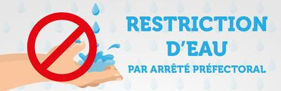 Robinet Logo restriction eau