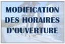 Modification horaires